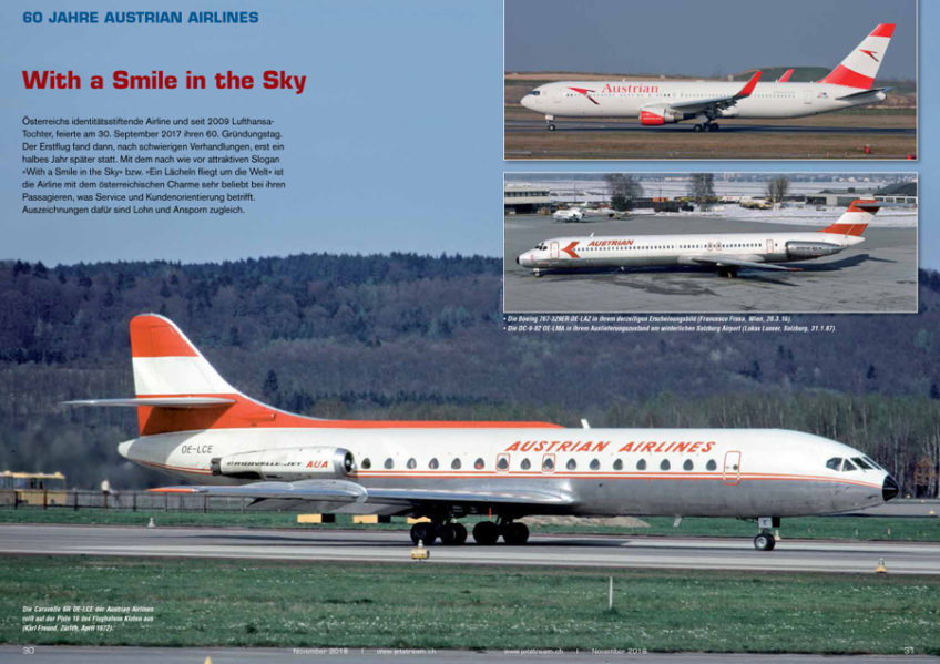 60 Jahre Austrian Airlines: Ein Rückblick