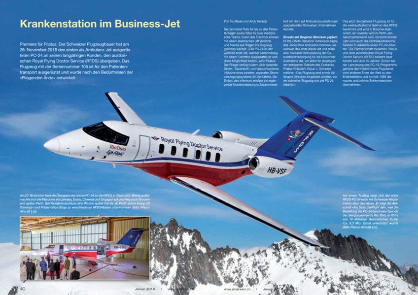Krankenstation im Business-Jet