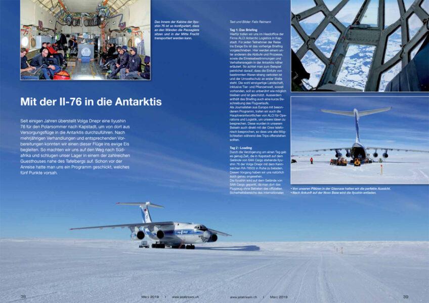 Mit der IL-76 in die Antarktis