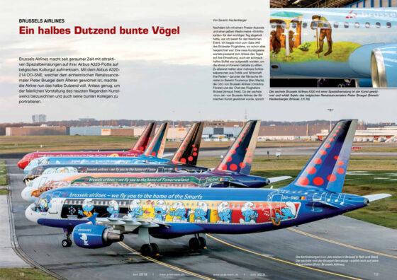 Brussels Airlines: Ein Dutzend bunte Vögel