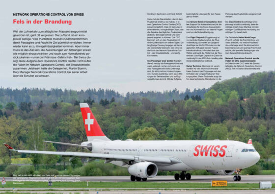 Fels in der Brandung: SWISS Network Operations Control