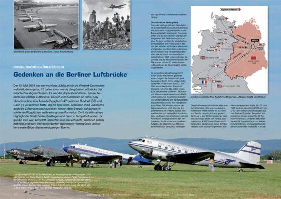 DC-3 über Deutschland: Gedenken an die Luftbrücke