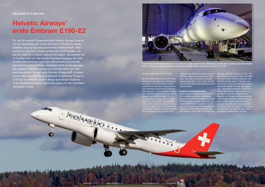 Welcome to a New Era: Helvetic Airways' erster E190-E2