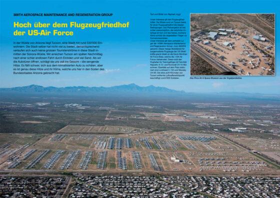 Hoch über dem Flugzeugfriedhof der US-Air Force