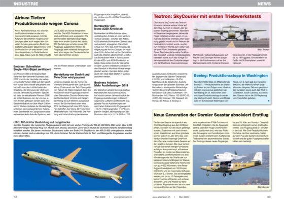 Aktuelle News aus der Flugzeug-Industrie