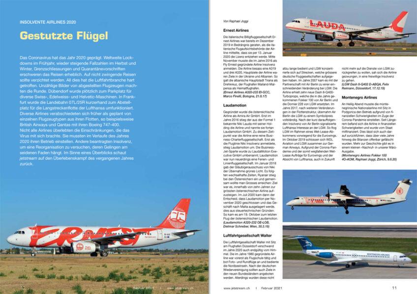 Traditioneller Rückblick auf die gescheiterten Airlines 2020