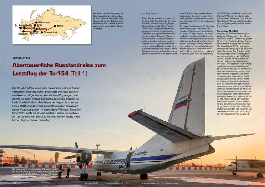 Abenteuerliche Russlandreise zum Letztflug der Tu-154 (Teil 1)