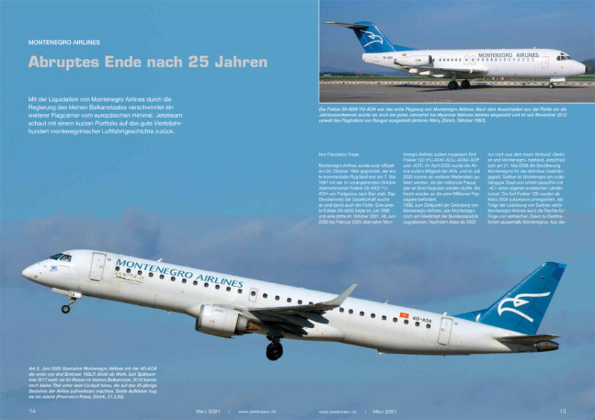 Montenegro Airlines: Abruptes Ende nach 25 Jahren