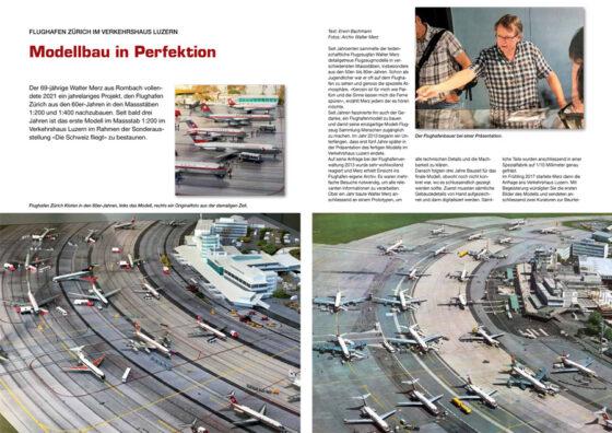 Modellbau in Perfektion: Flughafen Zürich der 60er-Jahre
