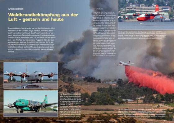 Waldbrandbekämpfung aus der Luft – gestern und heute