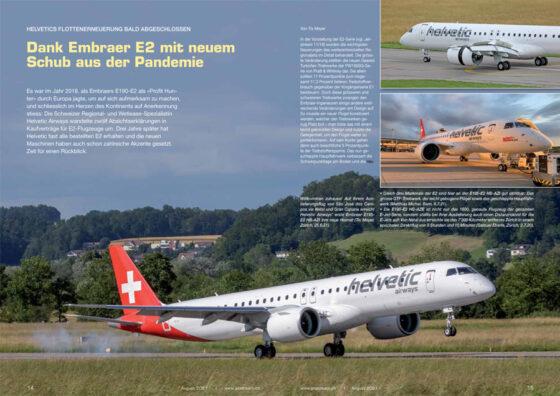 Helvetic Airways: E2-Einflottung fast abgeschlossen