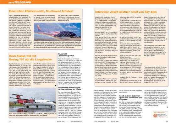 Ausgewählte Artikel von aeroTelegraph